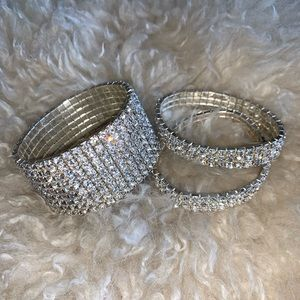 Rhinestone Stretch Cuffs